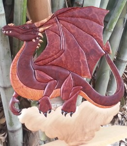 Intarsia Dragon with assorted Timbers